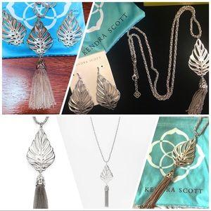 """Kendra Scott """"Keller"""" necklace and earrings"""